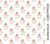 hot tea seamless pattern.... | Shutterstock .eps vector #1188799033
