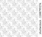 hot coffee seamless pattern... | Shutterstock .eps vector #1188799276
