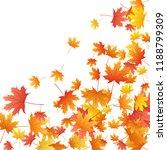 maple leaves vector background  ... | Shutterstock .eps vector #1188799309