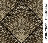 knitted 3d seamless pattern.... | Shutterstock .eps vector #1188800869