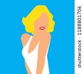 beautiful blond woman portrait. ... | Shutterstock .eps vector #1188801706