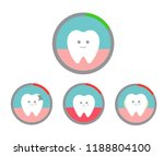 happy healthy teeth. upset... | Shutterstock .eps vector #1188804100