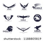 set of isolated eagles icons... | Shutterstock .eps vector #1188805819