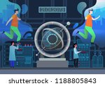 time machine at laboratory.... | Shutterstock .eps vector #1188805843