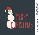 merry christmas hand drawn... | Shutterstock .eps vector #1188807166