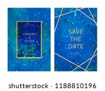 luxury wedding invitation cards ... | Shutterstock .eps vector #1188810196