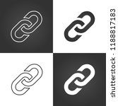 link icon set. hyperlink chain... | Shutterstock .eps vector #1188817183