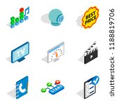 www age icons set. isometric... | Shutterstock . vector #1188819706