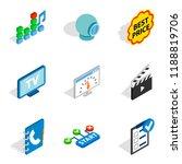 www age icons set. isometric...