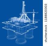 offshore oil rig drilling... | Shutterstock .eps vector #1188820303