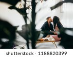 romantic married couple is... | Shutterstock . vector #1188820399