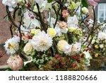 autdoor autumn floral decoration | Shutterstock . vector #1188820666