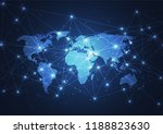 global network connection.... | Shutterstock .eps vector #1188823630