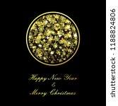 vector golden christmas ball on ... | Shutterstock .eps vector #1188824806