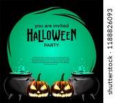 halloween party invitation...   Shutterstock .eps vector #1188826093