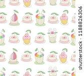 cupcakes seamless vintage... | Shutterstock .eps vector #1188826306