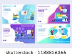 vector set of distance... | Shutterstock .eps vector #1188826366
