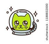 cute cartoon space cat... | Shutterstock .eps vector #1188832000