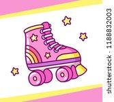 cute retro style roller skates... | Shutterstock .eps vector #1188832003