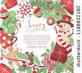 vector christmas background.... | Shutterstock .eps vector #1188832180