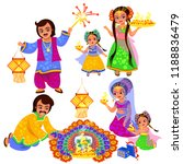 diwali indian holiday... | Shutterstock .eps vector #1188836479