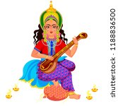 diwali holiday goddess... | Shutterstock .eps vector #1188836500