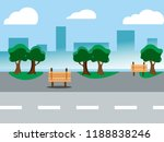 urban landscape with large... | Shutterstock .eps vector #1188838246