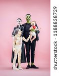 halloween family. happy father  ... | Shutterstock . vector #1188838729