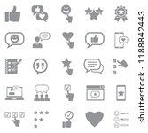 testimonials icons. gray flat... | Shutterstock .eps vector #1188842443