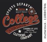 college sports print    Shutterstock .eps vector #1188847846
