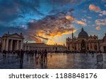 rome  italy   10.10.2018 square ... | Shutterstock . vector #1188848176