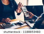refusal to receive bribe money  ...   Shutterstock . vector #1188853483