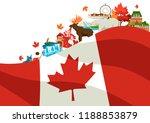 canada background design.... | Shutterstock .eps vector #1188853879