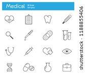 medicine  medical gray line... | Shutterstock .eps vector #1188855406
