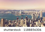 hong kong cityscape in vintage... | Shutterstock . vector #1188856306