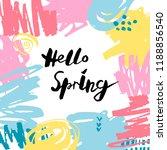 handwritten modern lettering... | Shutterstock .eps vector #1188856540