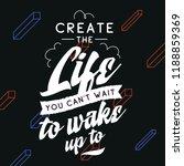 inspirational quote  motivation.... | Shutterstock .eps vector #1188859369