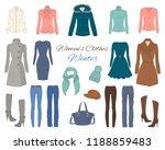 female fashion set. women's...   Shutterstock .eps vector #1188859483