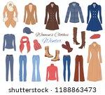 female fashion set. women's... | Shutterstock .eps vector #1188863473