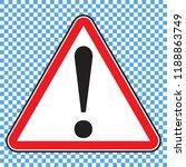 danger sign  warning sign ... | Shutterstock .eps vector #1188863749