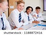line of high school students... | Shutterstock . vector #1188872416