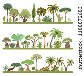 collection of tropical trees ... | Shutterstock .eps vector #1188872683