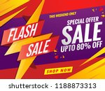 flash sale banner template... | Shutterstock .eps vector #1188873313