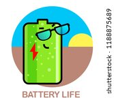 vector life battery set of... | Shutterstock .eps vector #1188875689