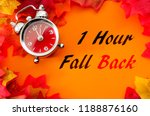 fall back  the end of daylight... | Shutterstock . vector #1188876160