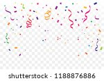 colorful confetti and ribbon... | Shutterstock .eps vector #1188876886
