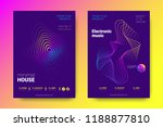 electronic music party poster... | Shutterstock .eps vector #1188877810