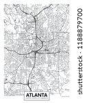 city map atlanta  travel vector ... | Shutterstock .eps vector #1188879700