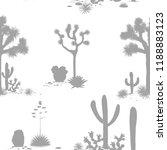 desert seamless pattern with...   Shutterstock .eps vector #1188883123