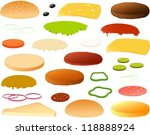vector illustration of various... | Shutterstock .eps vector #118888924